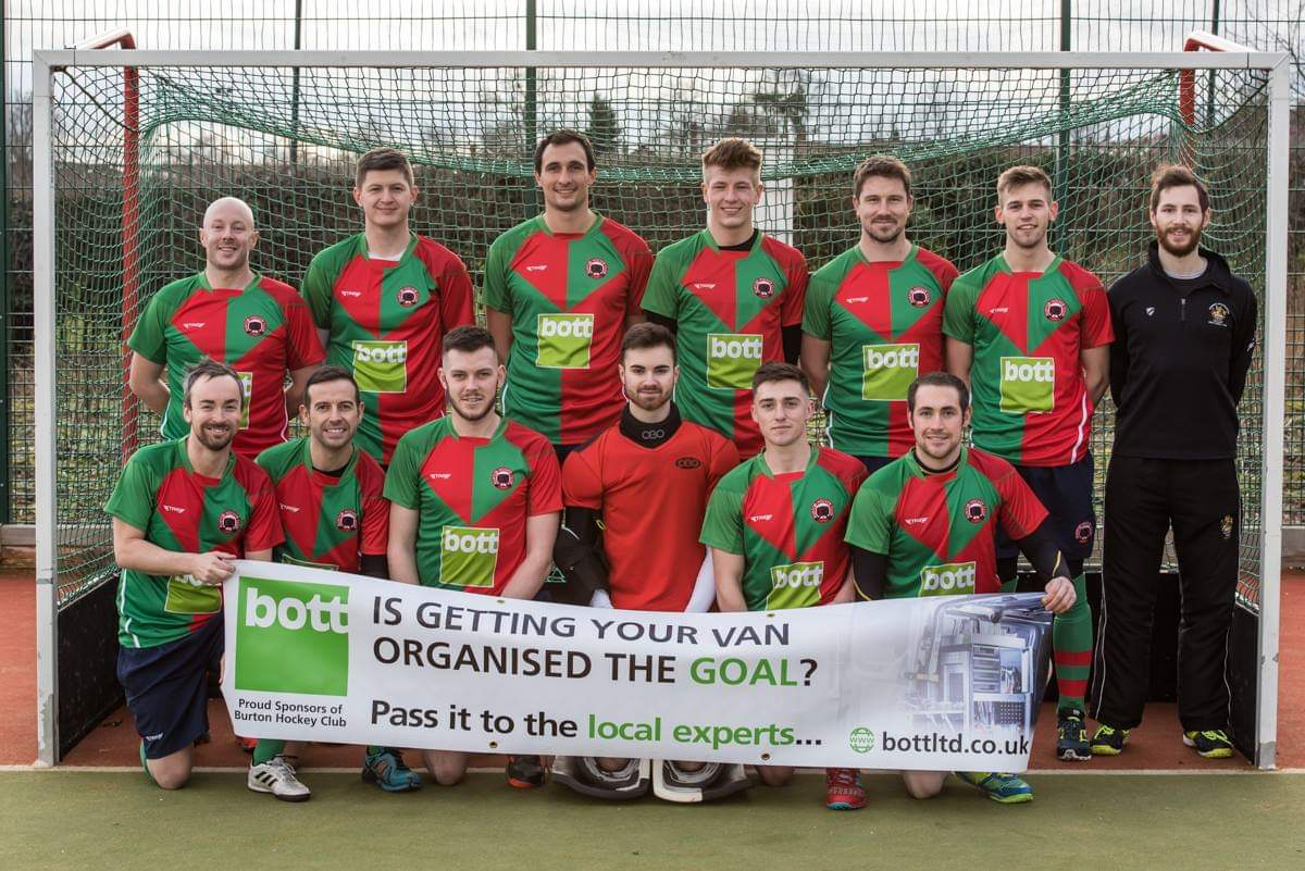 Burton Hockey Club First Team in their Bott sponsored kit