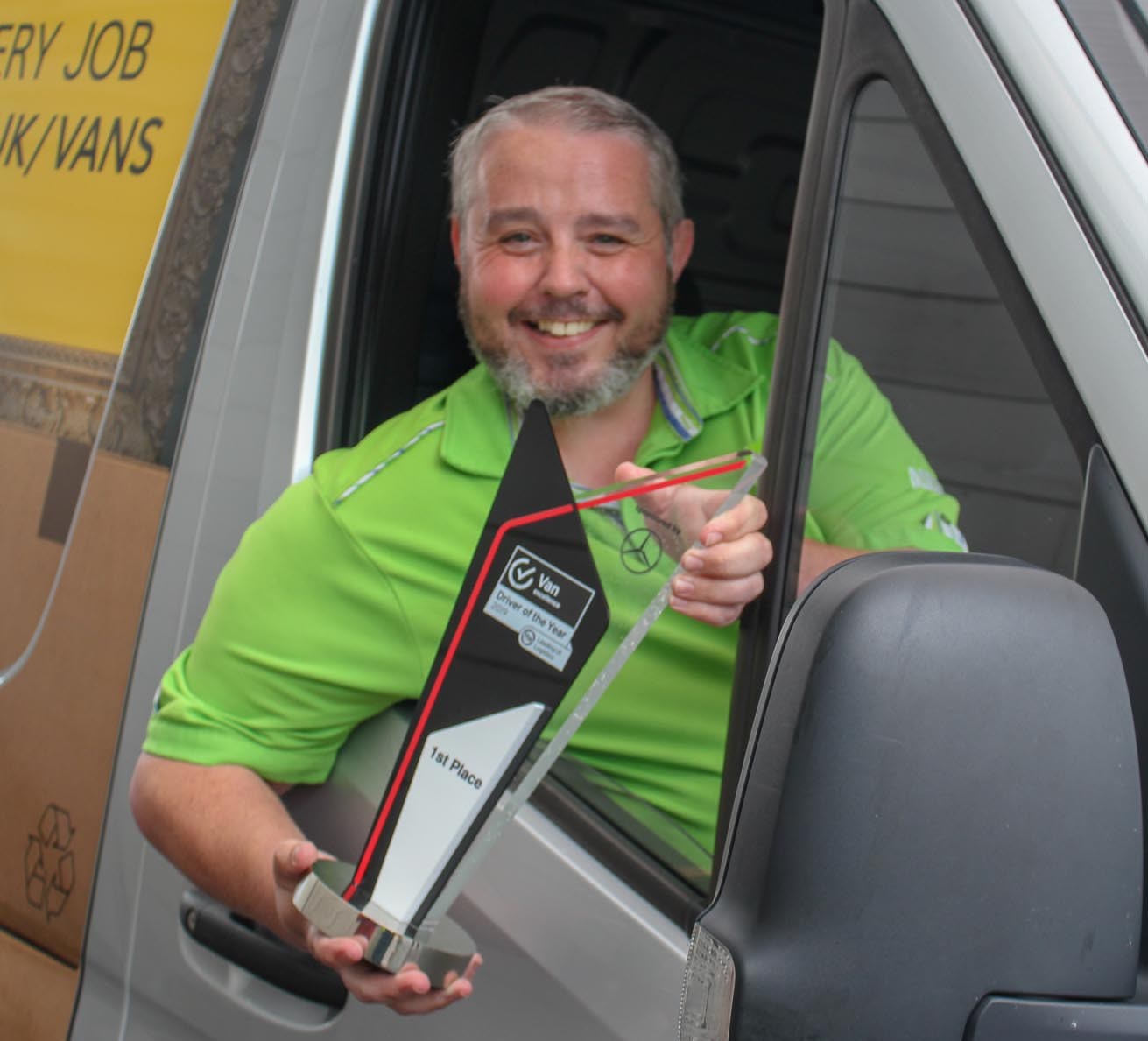 Chris Shenton, of ASDA, with his Drive of the Year trophy