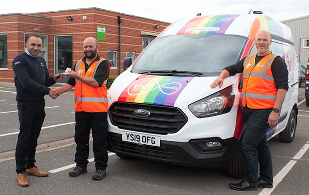 Bott supporting Pride with Virgin Media