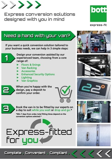 Bott Express-Fit - Express conversion solutions designed with you in mind